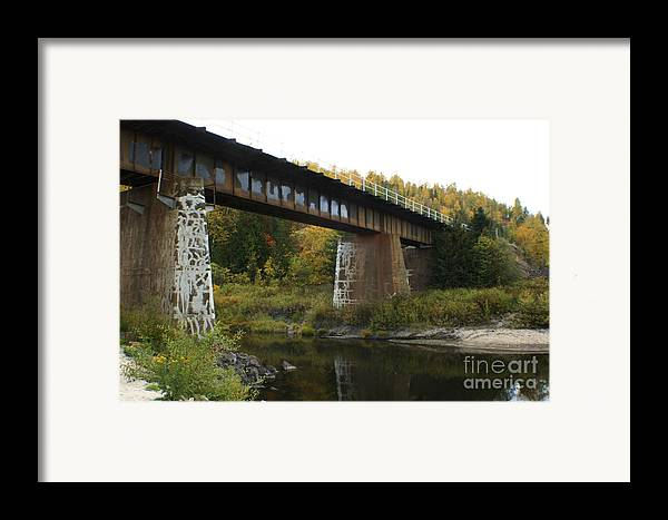 Bridge Framed Print featuring the photograph Pack River Bridge by Idaho Scenic Images Linda Lantzy
