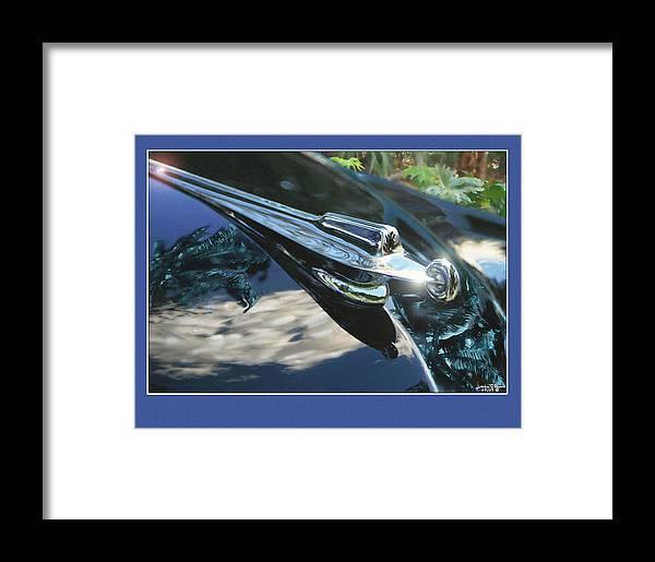 Framed Print featuring the digital art Packard Hood Ornament by John Breen