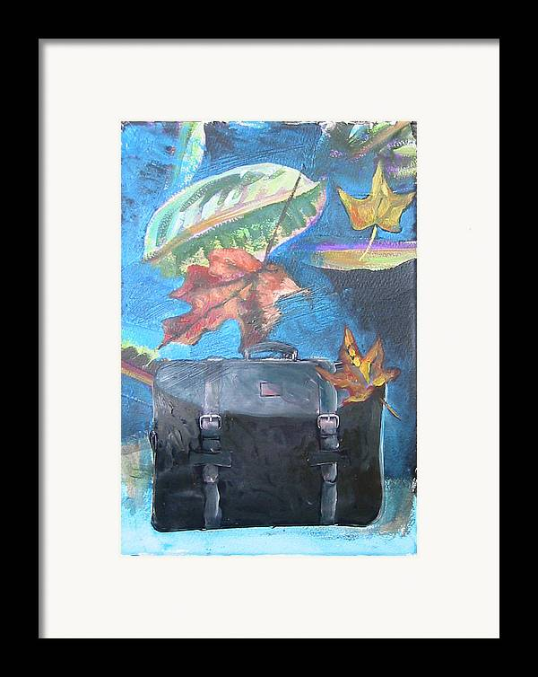 Suitcase Framed Print featuring the mixed media Packed Bag by Tilly Strauss