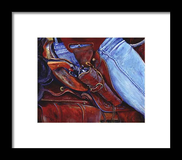 Pistol Framed Print featuring the painting Packin by Page Holland