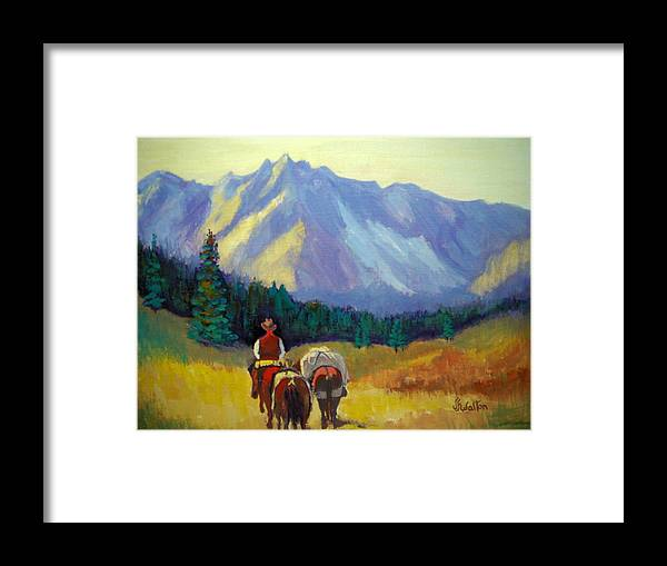 Packing In Framed Print featuring the painting Packing In by Judy Fischer Walton