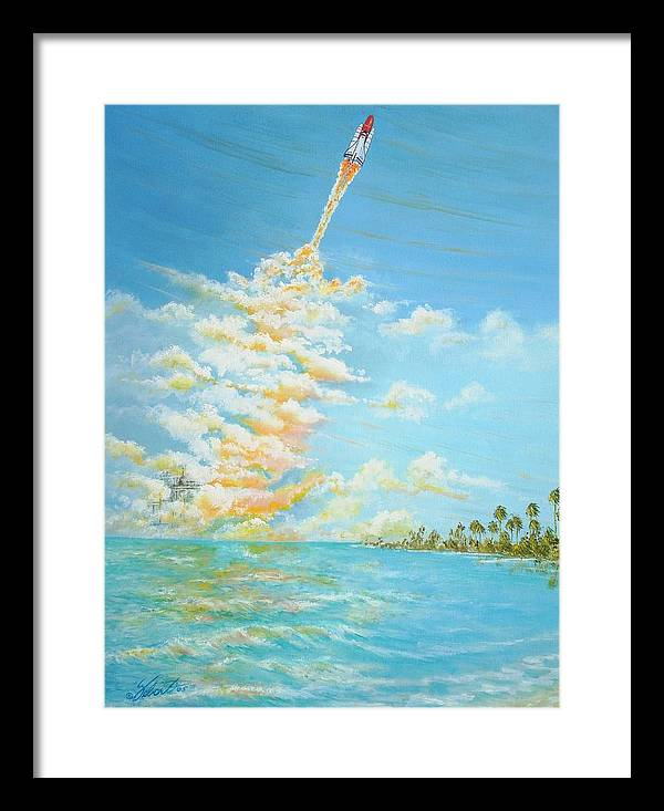 Historical Space-aviation Art-airplane Art Framed Print featuring the painting Pad 39 by Dennis Vebert