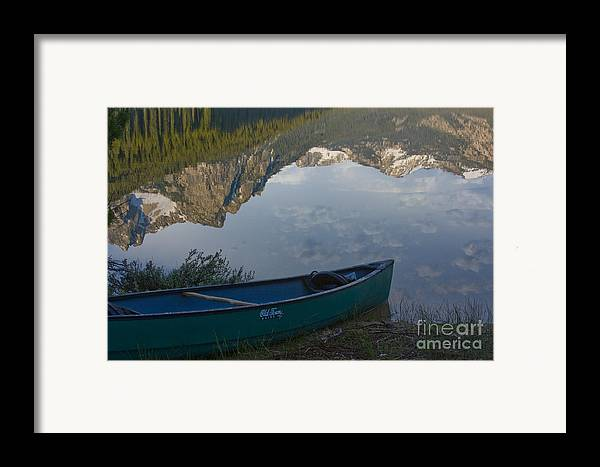 Canoe Framed Print featuring the photograph Paddle To The Mountains by Idaho Scenic Images Linda Lantzy