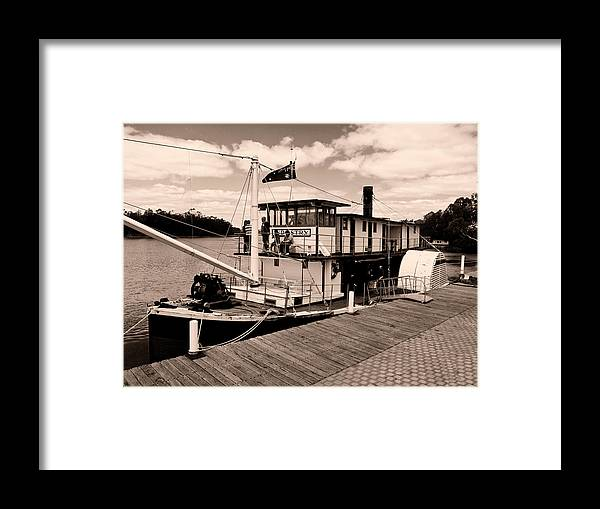 Murray River Framed Print featuring the photograph Paddlesteamer by Douglas Barnard