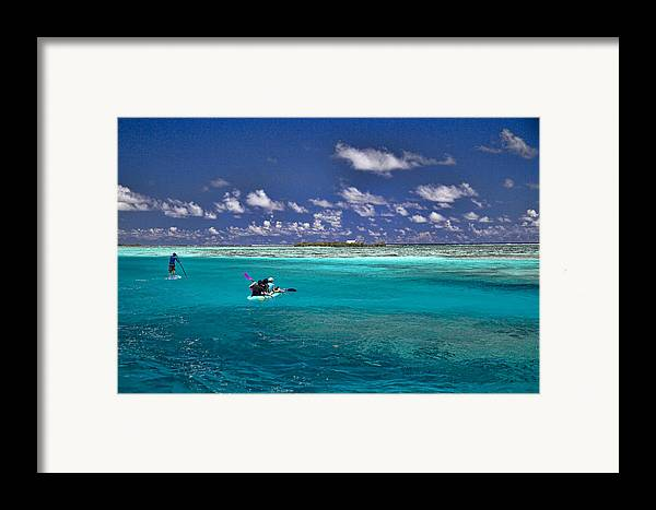 Moorea Framed Print featuring the photograph Paddling In Moorea by David Smith