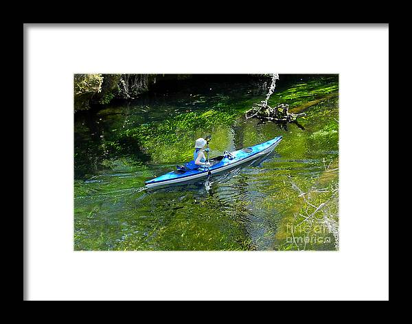 Ichetucknee Springs Framed Print featuring the photograph Paddling The Ichetucknee by David Lee Thompson