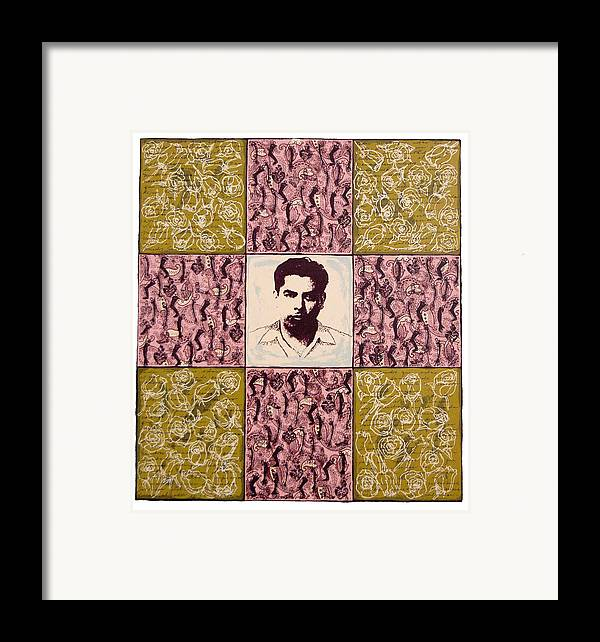 Leitica Huerta Framed Print featuring the print Padre Nuestro by Leticia Huerta