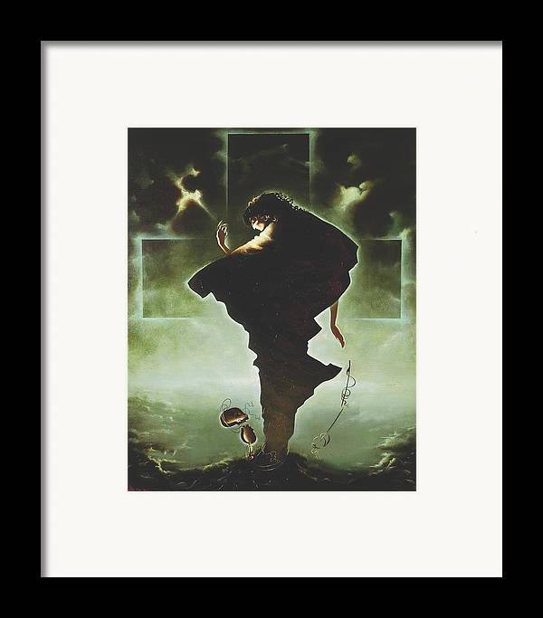 Figures Framed Print featuring the painting Paganini by Andrej Vystropov