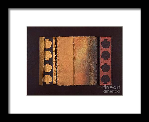 Artistbook Framed Print featuring the painting Page Format No.4 Tansitional Series by Kerryn Madsen-Pietsch