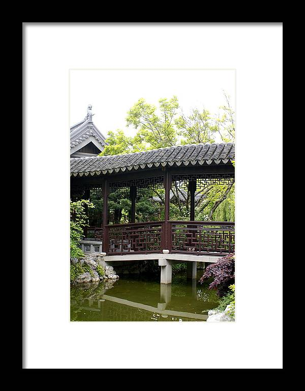 Chinese Garden Framed Print featuring the photograph Pagoda by Sonja Anderson