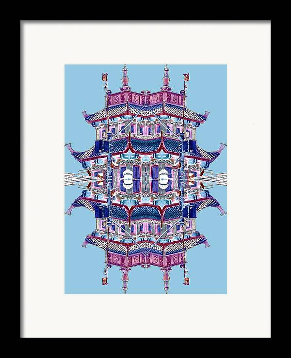 China Town Framed Print featuring the photograph Pagoda Tower Becomes Chinese Lantern 2 Chinatown Chicago by Marianne Dow