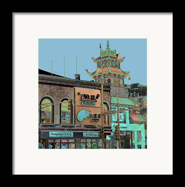 China Town Framed Print featuring the photograph Pagoda Tower Chinatown Chicago by Marianne Dow