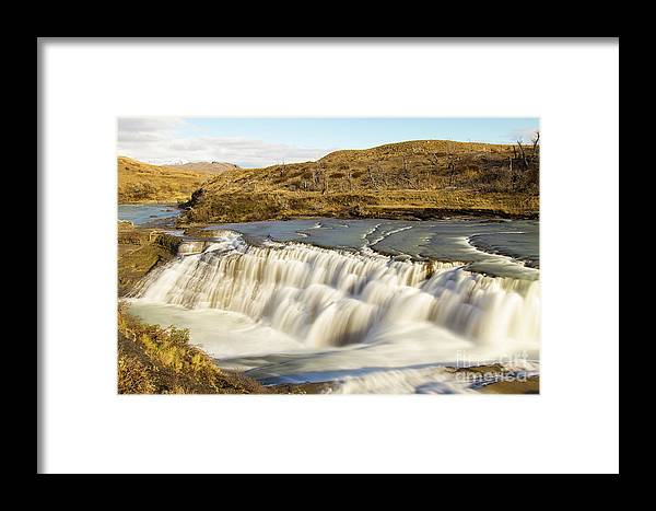 Nature Framed Print featuring the photograph Paine River Waterfall by Mirko Chianucci