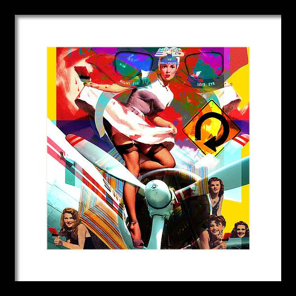 Girls Framed Print featuring the painting Paint Brush Girls by Robert Anderson