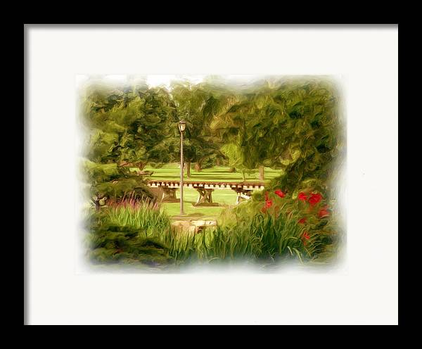 Park Framed Print featuring the photograph Paint In The Park by Jim Darnall