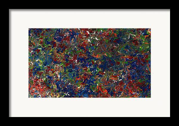 Abstract Framed Print featuring the painting Paint Number 1 by James W Johnson
