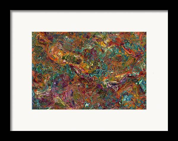 Abstract Framed Print featuring the painting Paint Number 16 by James W Johnson