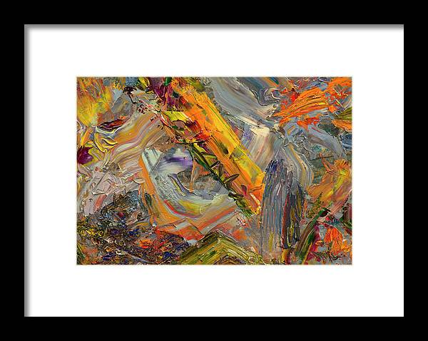Abstract Framed Print featuring the painting Paint Number 44 by James W Johnson