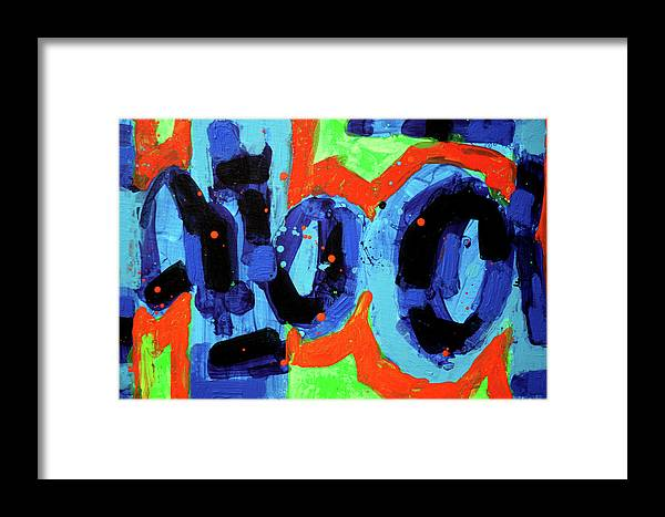 Abstract Framed Print featuring the painting Paint What You Feel Not What You See by John Nolan