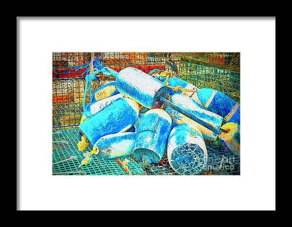 Buoy Framed Print featuring the photograph Painted Buoys by Joe Geraci