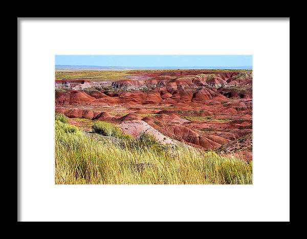 Photography Framed Print featuring the photograph Painted Desert 0242 by Sharon Broucek
