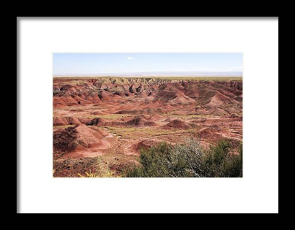 Photography Framed Print featuring the photograph Painted Desert 0249 by Sharon Broucek