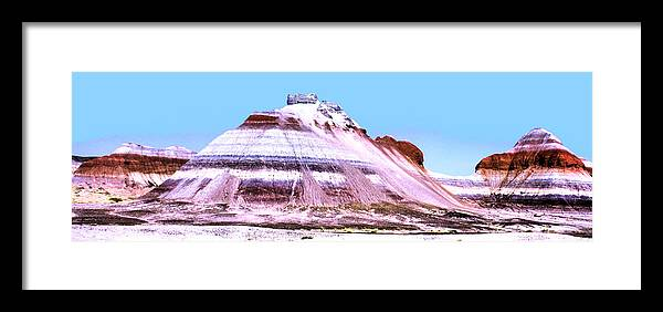Photography Framed Print featuring the photograph Painted Desert 0289 by Sharon Broucek