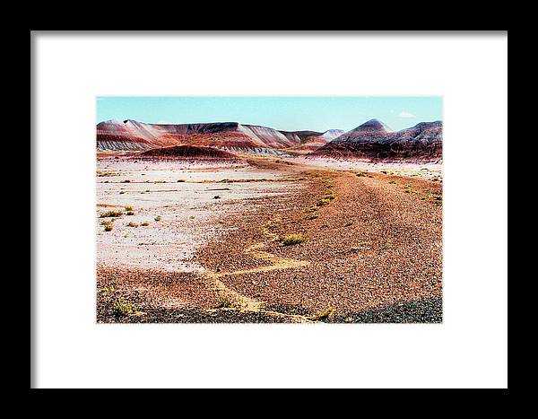 Photography Framed Print featuring the photograph Painted Desert 0319 by Sharon Broucek