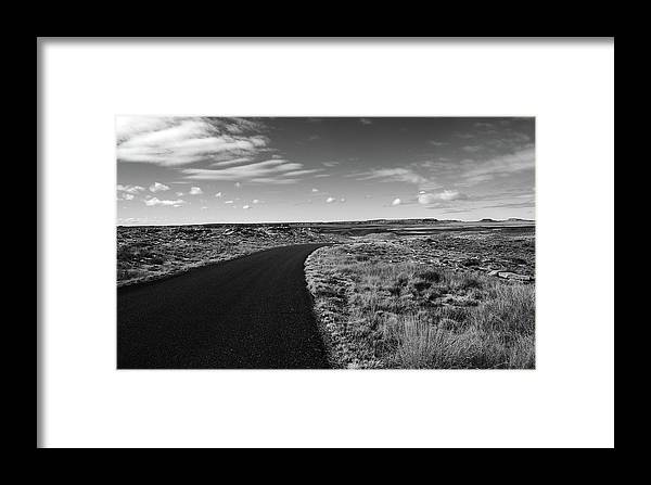 B&w Framed Print featuring the photograph Painted Desert 2 by Ralph Muzio