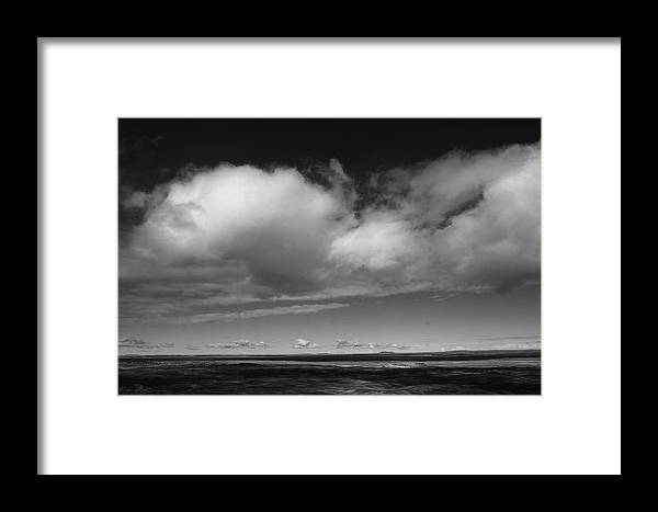 B&w Framed Print featuring the photograph Painted Desert 3 by Ralph Muzio