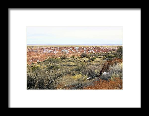Photography Framed Print featuring the photograph Painted Desert Winter 0571 by Sharon Broucek