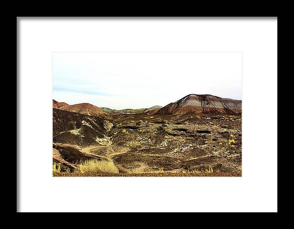 Photography Framed Print featuring the photograph Painted Desert Winter 0583 by Sharon Broucek