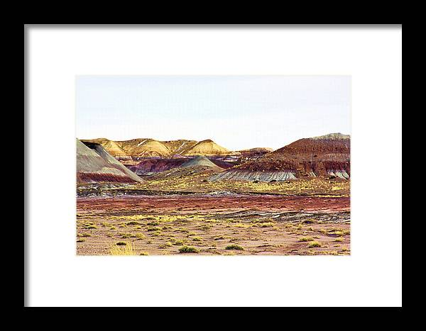 Photography Framed Print featuring the photograph Painted Desert Winter 0602 by Sharon Broucek
