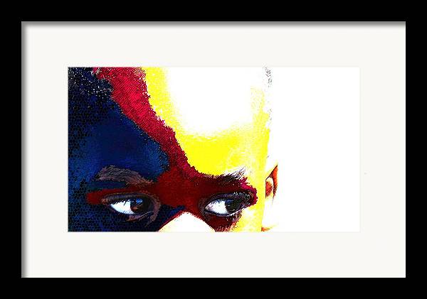 Framed Print featuring the photograph Painted Face 1 by LeeAnn Alexander