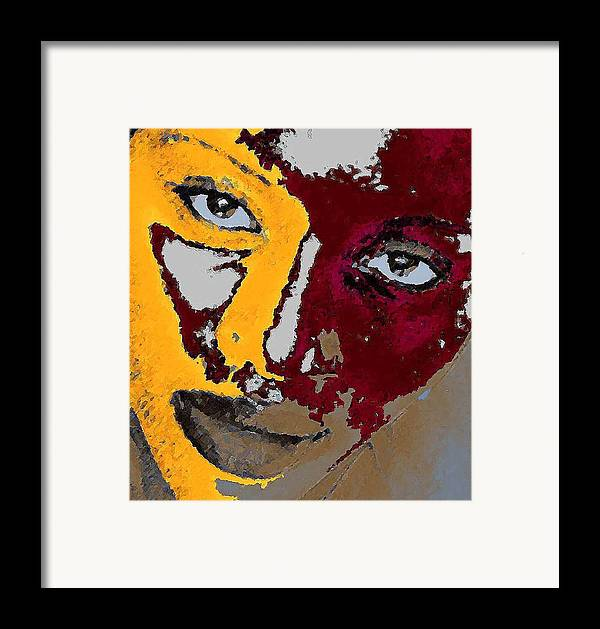 Portrait Framed Print featuring the photograph Painted Face by LeeAnn Alexander