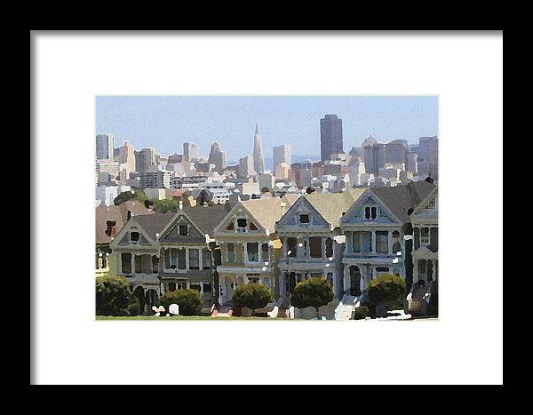 Alamo Framed Print featuring the photograph Painted Ladies - Palette Knife by Lou Ford