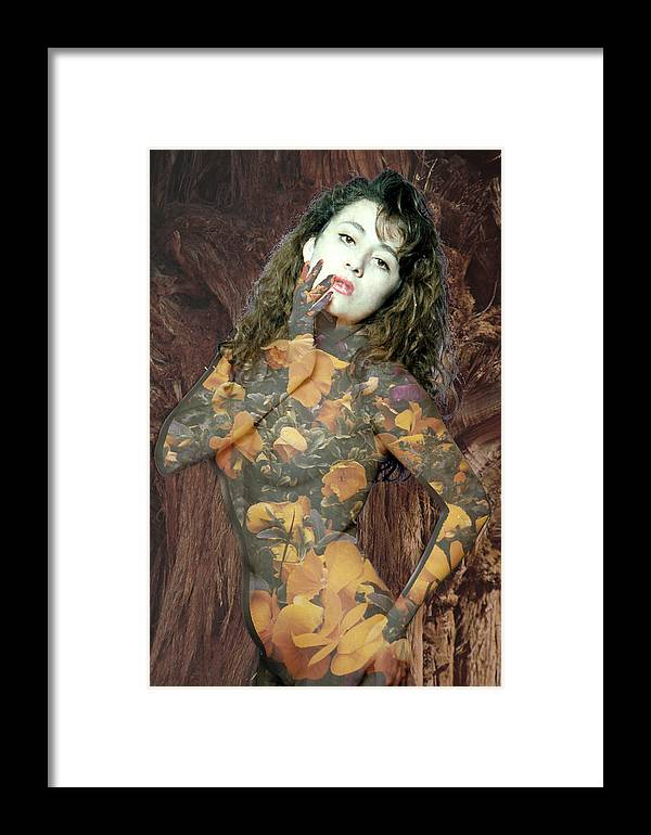 Model Framed Print featuring the photograph Painted Lady by Richard Henne