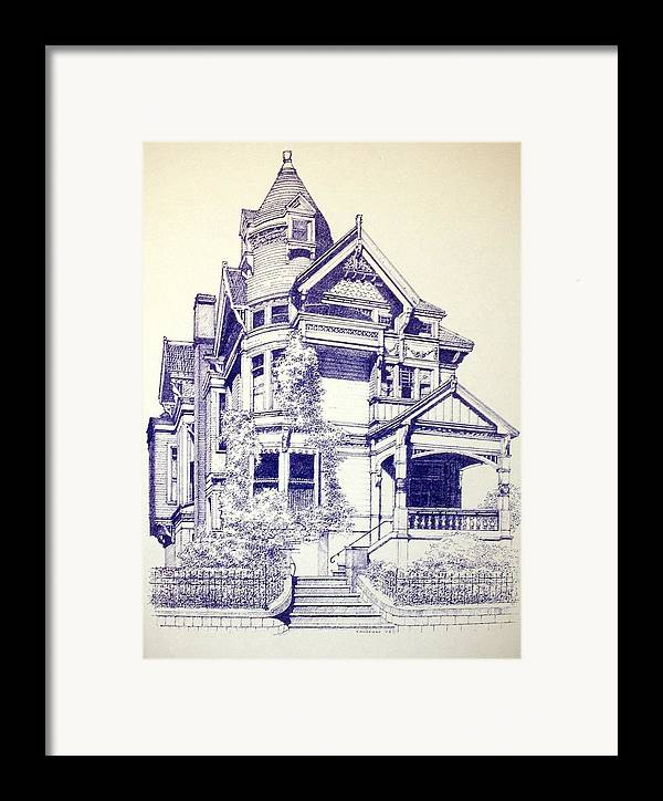 Victorian Mansions Houses Architecture Homessan Francisco Framed Print featuring the painting Painted Lady by Tony Ruggiero