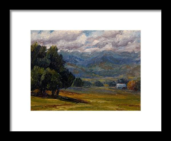 Utah Framed Print featuring the painting Painted Mountains II by Candi Hogan