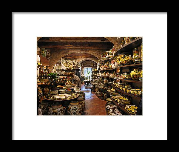 Painted Pottery Framed Print featuring the mixed media Painted Pottery by Paul Barlo