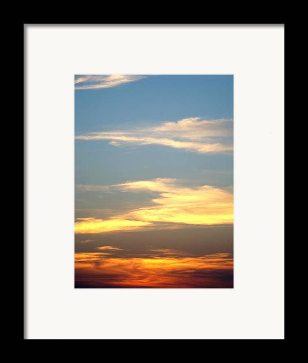 Sunset Framed Print featuring the photograph Painted Sky by Ana Villaronga