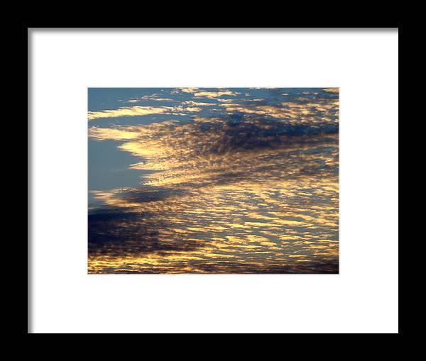 Sky Framed Print featuring the photograph Painted Sky Five by Ana Villaronga