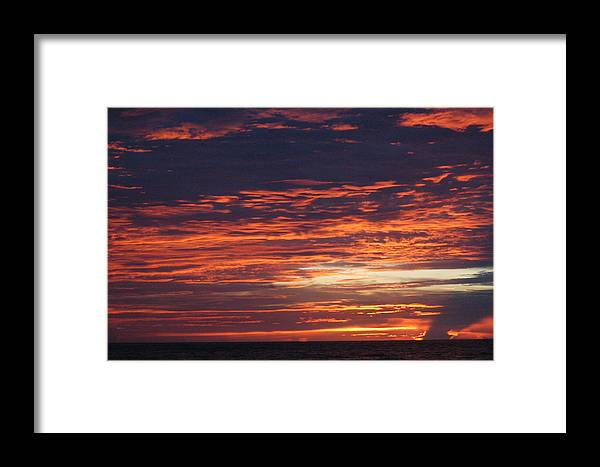 Sunrise Framed Print featuring the photograph Painted Sky by Michael Vanatta