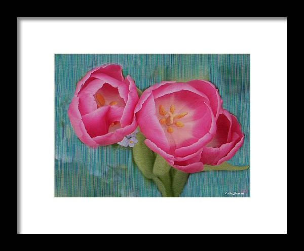 Flowers Framed Print featuring the photograph Painted Tulips by Linda Sannuti