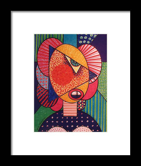 Cubissm Framed Print featuring the painting Painted Woman by Bill Meeker