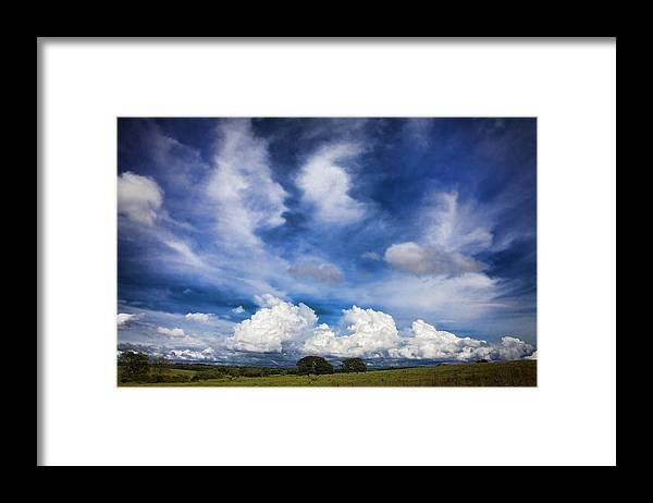 Landscape Framed Print featuring the photograph Painterly Sky over Oklahoma by Toni Hopper