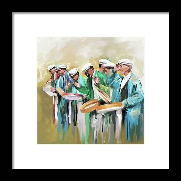 Hunza Framed Print featuring the painting Painting 800 1 Hunzai Musicians by Mawra Tahreem