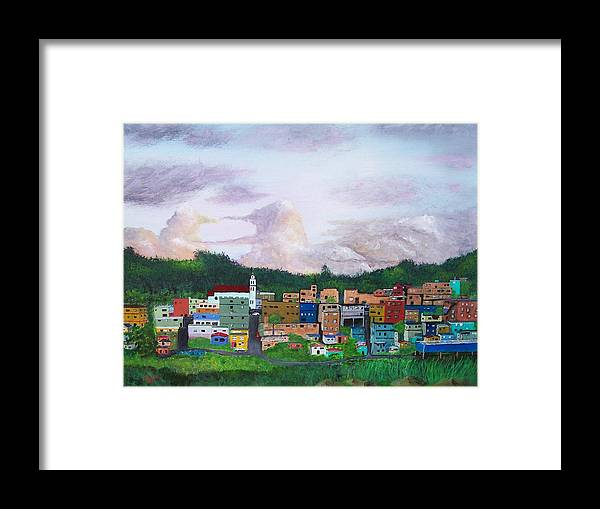 Painting The Town Framed Print featuring the painting Painting The Town by Tony Rodriguez