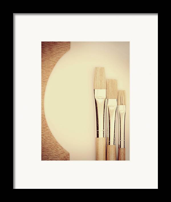 Painting Framed Print featuring the photograph Painting Tools by Wim Lanclus