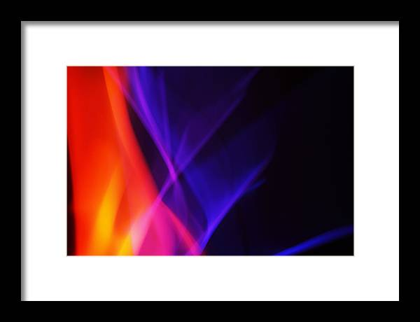 Abstract Framed Print featuring the photograph Painting With Light 3 by Chris Rodenberg